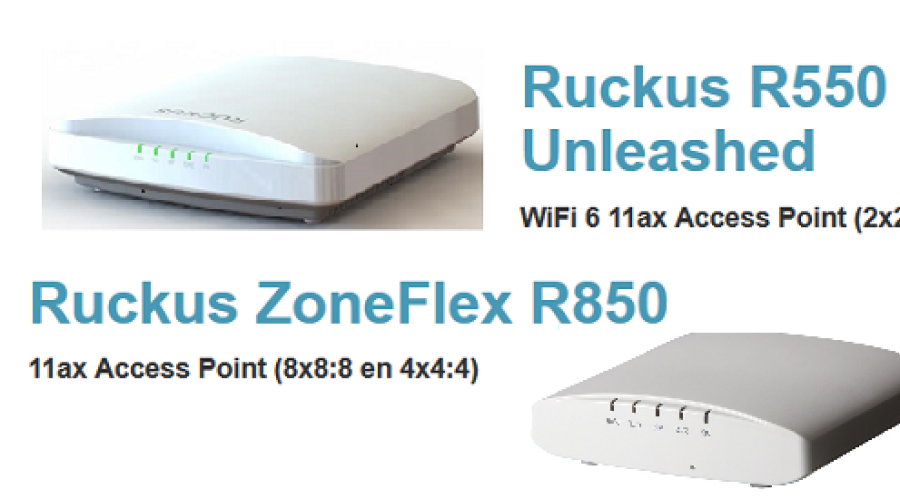 Ruckus R850 en R550 – twee WiFi 6 access points